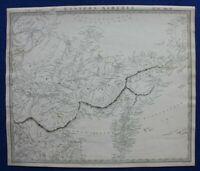 EASTERN SIBERIA, RUSSIA, KAMCHATKA, YAKUTSK, original antique map, SDUK, 1844