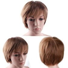 Popular Cosplay Wig Short Hair BOB Full Wigs Synthetic No Tangle Black Brown Red