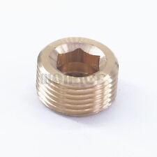 M20x1.5mm male Brass Countersunk Plug Internal hex head socket Pipe fitting