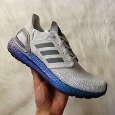 Adidas Ultraboost 20 Dash Grey/Boost Blue Violet Metallic Womens Size 8.5