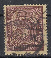 33b / 5 Mark  Dienstmarke gestempelt  - geprüft