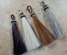 Horsehair tassel, 3.25 inch, horse hair jewelry, Elegant design, 4 color choices