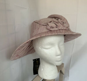 Perche' Couture NWT Vintage Hat Handcrafted Pink W/Flower 1960's W/Couple Marks