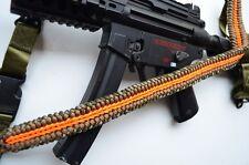 """60"""" Tactical Paracord Gun Rifle Bow Shotgun Sling 1 or 2 Point w/QD ORANGE CAMO"""