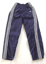 Vintage 90s ADIDAS Men Medium BREAKAWAY Snap Wind PANTS Warm Up Tear Away