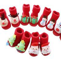 Toddler Baby Socks Red Boy Girl Christmas Floor Socks Anti-Slip Baby Step Socks