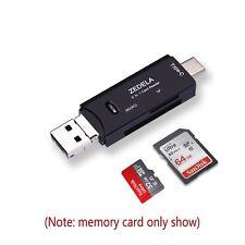 Lettore di Schede SD / Micro USB OTG a USB 2.0 Adattatore SD, Adattatore USB C