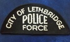 CITY OF LETHBRIDGE, CANADA POLICE DEPARTMENT SHOULDER PATCH