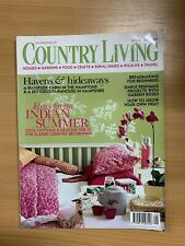 SEPTEMBER 2003 COUNTRY LIVING MAGAZINE -INDIAN SUMMER IDEAS / HAVENS & HIDEAWAYS