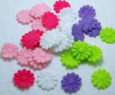 200 Mixed Cute 14mm Felt Daisy Flower Appliques for Cardmaking DIY