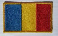 Rumänien Romania Flagge Aufnäher Patch 5 x 8 cm NEU (A54v)