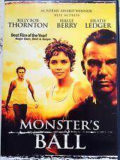 HALLE BERRY HEATH LEDGER BILLY BOB thorton monster's BALL ~ 2002 US R1 DVD
