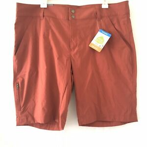 COLUMBIA Women's Saturday Trail Long Short Omni Shield Active Fit 16W Red Pocket