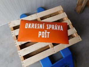 Original Antique Czech Republic Post Head Office Enamel Porcelain Street Sign