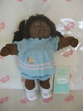 "Vintage 1980's Cabbage Patch Kids African American Girl Doll ""Trixie Sylvie"""