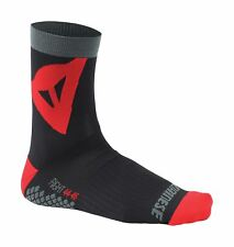 Riding Socks Unisex With Footbed Compression & Ankle Support Black/Red (L)