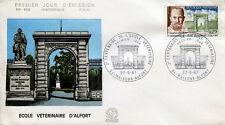 FRANCE FDC - 608 1527 1 ECOLE VETERINAIRE GASTON RAMON - 27 Mai 1967