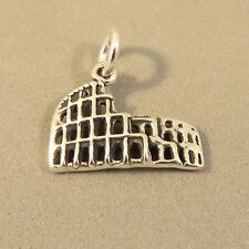 .925 Sterling Silver ROMAN COLOSSEUM CHARM NEW Rome Coliseum Italy 925 TR72
