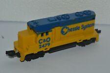 Vintage Mattel 1983 Train Engine Chessie System C&O 2479 Malaysia Very Good Cond