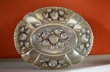 Große Silberschale 800er Silber  handgetrieben Früchtedekor    25cm  270g!