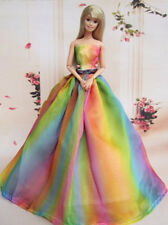Fashion Royalty Rainbow Colorful Princess Dress/gown FOR Silkstone Barbie C007