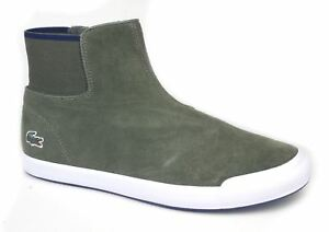Lacoste Lancelle Chelsea Ladies Suede Inside Zip Boots Dk Green