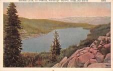 DONNER LAKE, CA Southern Pacific Railroad Overland Route ca 1920s Postcard
