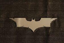 LARGE BATMAN EMBLEM STAINLESS STEEL MIRROR LIKE FINISH NEW!  ~ FREE SHIP ~