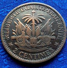 MONNAIE 2cts REPUBLIQUE D HAITI AN 78 . 1881   A VOIR!!