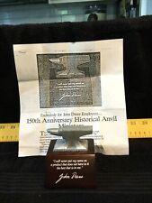 Rare Vintage 1987 John Deere 150th Anniversary�Employee Only� Anvil W/Order Form