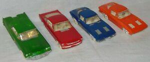 "Vintage AMT Plastic Model Car 6"" Thunderbird 5.5"" Mustang & Corvette 1960's lot"