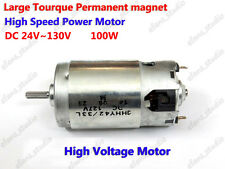 DC 24V~130V 36V 110V High Voltage Power Large Torque permanent magnet DC Motor