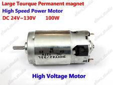 DC 24V-130V 48V 110V 10000RPM High Speed Large Torque 100W PM Brushed DC Motor