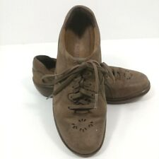 Aravon size 7.5 B brown leather comfort lace up loafer sneaker shoe