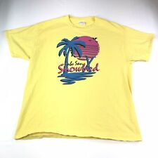 Rare CABO SAN SNOWBIRD Utah Ski Resort Yellow T Shirt Size XL #1166