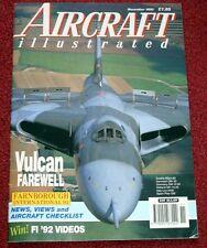 Aircraft Illustrated 1992 November Lugano,Vulcan,CA-13 Boomerang,Slovenia