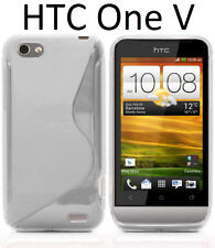 TPU gel silicone case cover S-line clear transparent for HTC One V T320e Primo