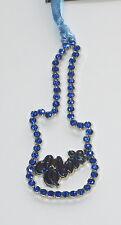 Elvis Presley Guitar Ornament Blue Stones Christmas Silver Tone New