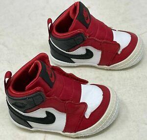 Nike Air Jordan 1 Crib Bootie Gym Red Black White    AT3745 601  SIZE 3C