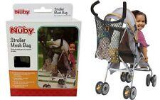 Nuby Stroller Accessories Infant/Toddler Stroller Mesh Bag, Black