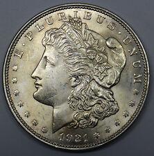 1921  MORGAN SILVER $1 DOLLAR USA COIN UNC DBW