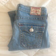 size 27 TRUE RELIGION Joey Big T boot cut jeans, great condition