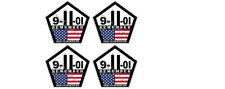 Set of 4 Remember WTC 9 11 Memorial Sticker Car Truck These Colors Never Run