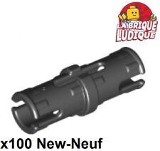 Lego technic - 100x pin with Friction Ridges Lengthwise noir/black 2780 NEUF