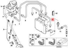 Genuine BMW E46 Convertible Coupe Estate Front DSC Brake Pipe OEM 34326754873