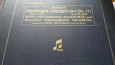 MOZART PIANO CONCERTO IN G ERNST VON DOHNANYI & BUDAPEST PHILHARMONIC ORCHESTRA