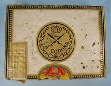 La Corona Coronas Vintage Wooden Cigar Box American Tobacco Co Woman (O) AS IS