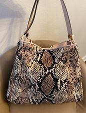 Coach 31502 Madison Phoebe Python Print Shoulder Bag -Fabric/Leather -$328