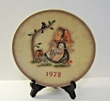 1978 Hummel Goebel 8th Annual Plate #271 Happy Pastime Bas Relief Boxed Mint