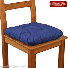 Bis zu 100 Sitzkissen 38 x 38 x 8 cm in blau Stuhlkissen Kissen Softkissen neu